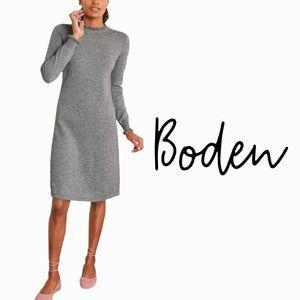 Boden gray sweater dress wool cashmere blend size 12